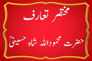 Hazrat Shah Mahmood Ullah Bukhari