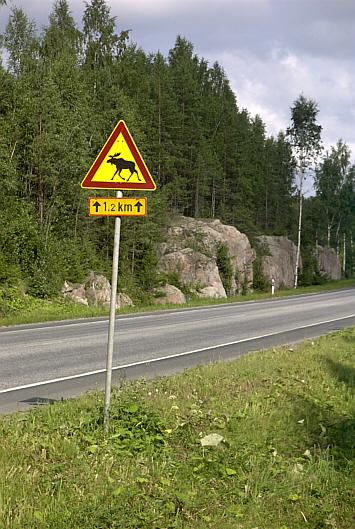 Schild in Finnland