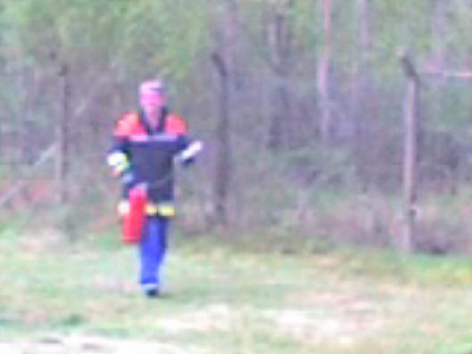 Wortman als Feuerwehrmann