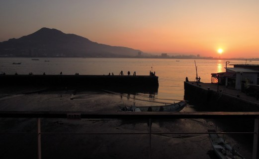 Tamsui sunset from Ancre Cafe