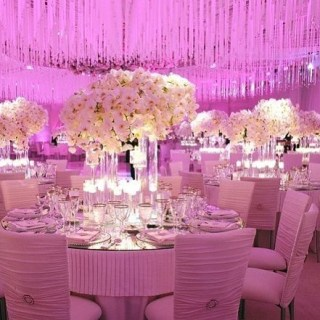 Dining Tables with flower decoration