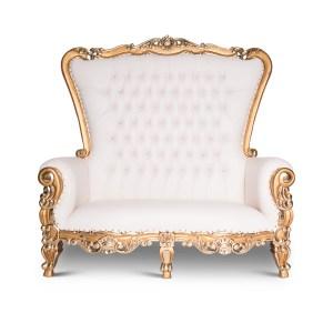 Gold Trim Love seat