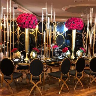 Silver events décor for parties