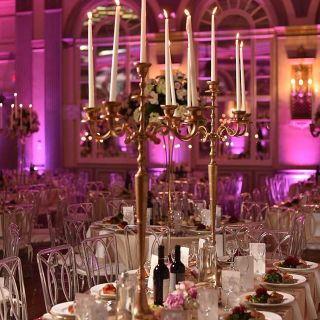 dining table and décor for events