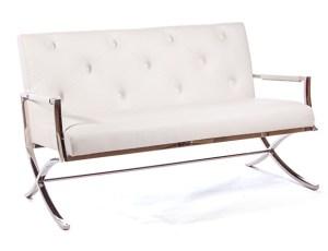 Cosmopolitan Love Seat White