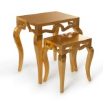Tiffany Nesting Tables Gold