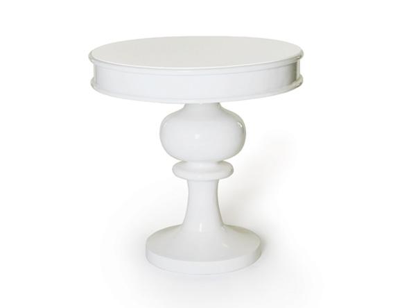 Gloria Accent Table White