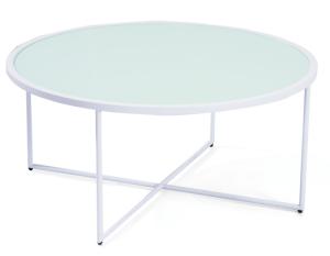 Mod Round White Coffee Table