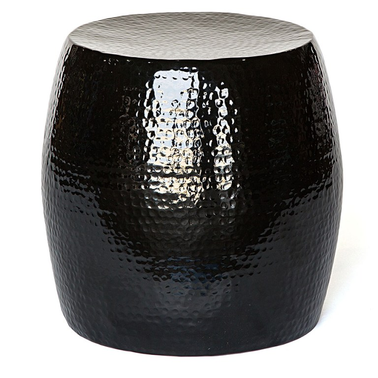 Pop Hammered Stool/Side Table Black