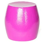 Pop Hammered Stool/Side Table Pink