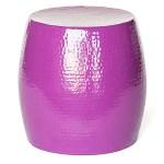 Pop Hammered Stool/Side Table Purple