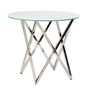 Opulence Cafe Table Silver/White