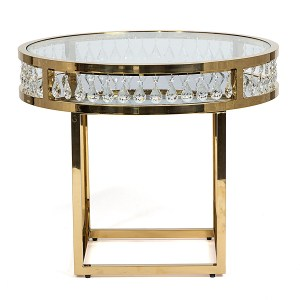 Le Crystal Round Cafe/Cake Table Gold