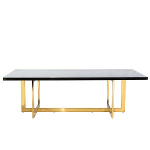 Hudson Dining Table Gold/Black