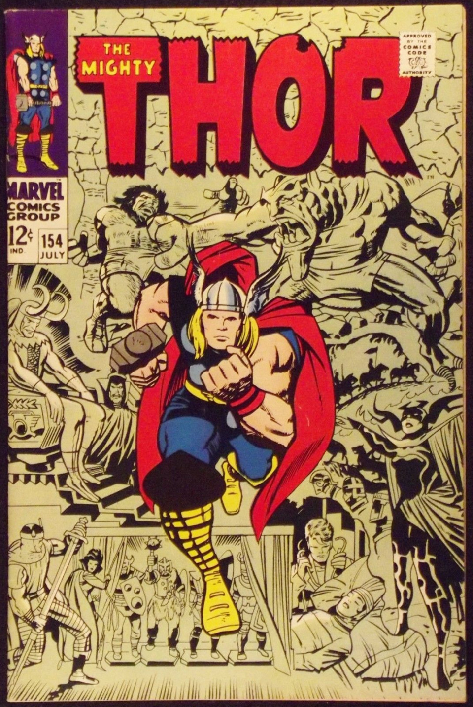 THOR 154 VF 1ST APPEARANCE MANGOD STAN LEE JACK KIRBY