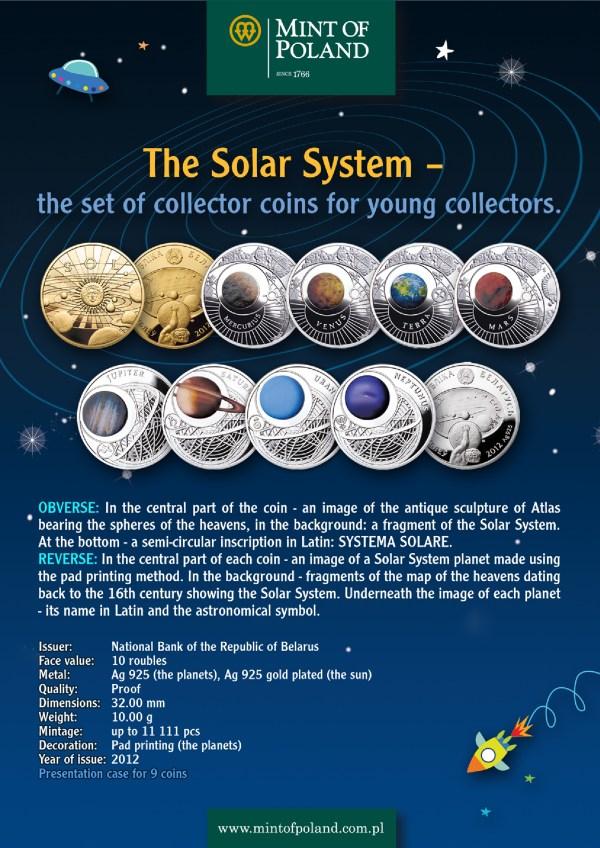 Solar System (Kids), Belarus, 2012, 10g x 9 | SilverCoinStory