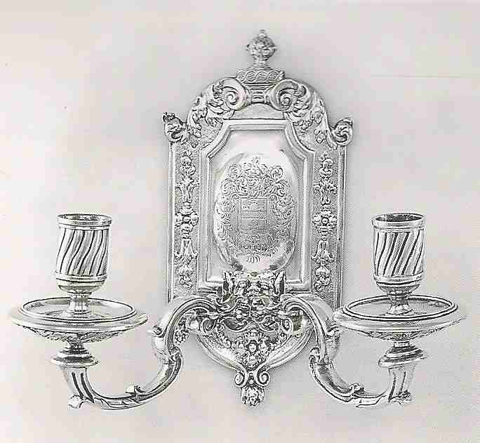 ASCAS Association of Small Collectors of Antique Silver ... on Silver Wall Sconces For Candles id=92781