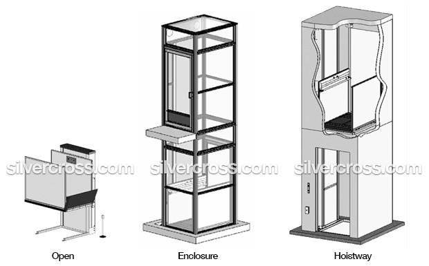 Wheelchair Lifts | Open | Enclosure | Hoistway | Silver Cross