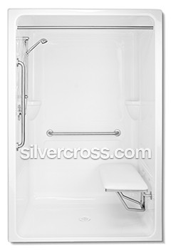 Milestone Bath Safeway Tub Door | Roll-in Shower | Silver Cross