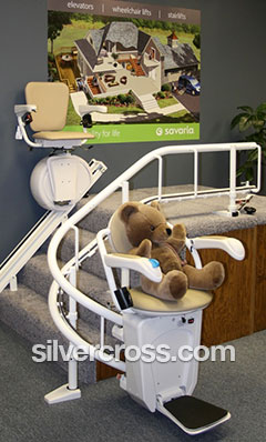 Silver Cross Kansas City | Stair Lift Straight and Curved | Showroom