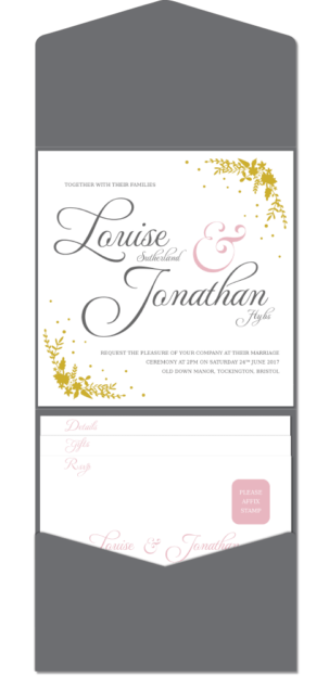 bespoke gold foil wedding invitations