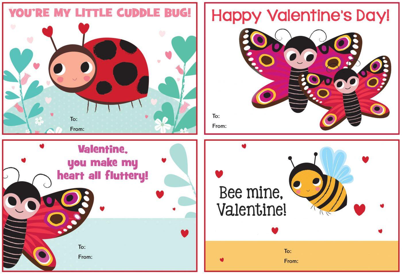 Cuddle Bug Valentine S Day Cards