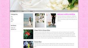 White Wedding Wordpress Theme