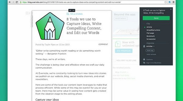 Download Evernote Web Clipper for Chrome Free