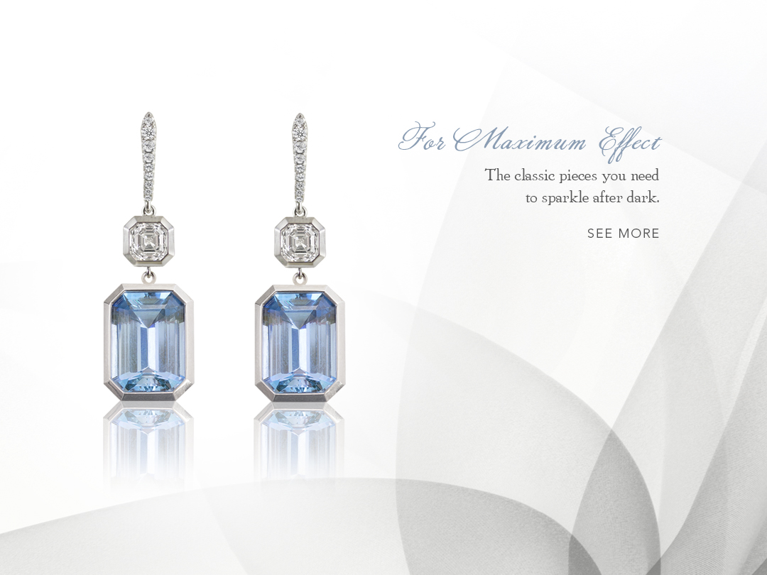 Silverhorn Jewelers aquamarine diamond earrings