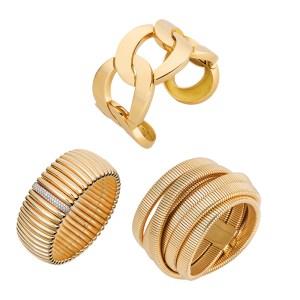 Silverhorn gold cuff bracelets