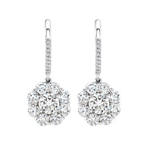 Silverhorn diamond drop earrings