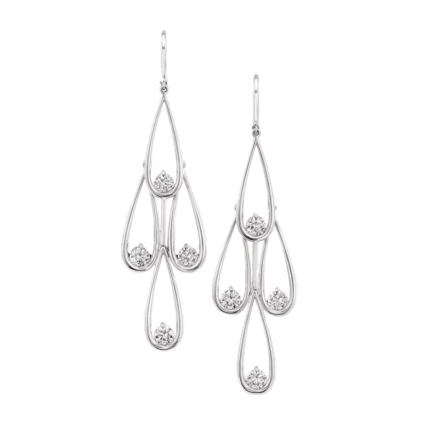 Silverhorn diamond earrings