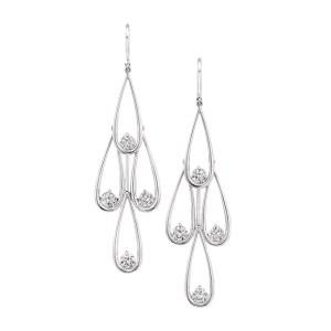 Silverhorn diamond earrings