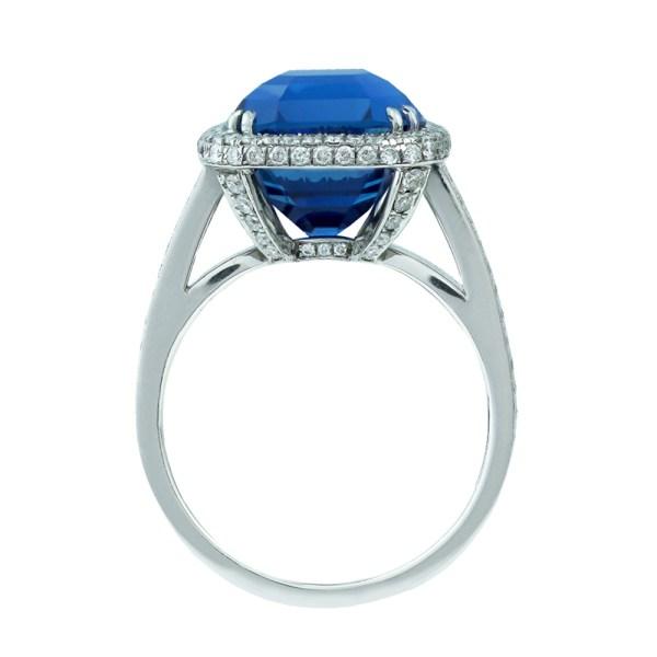 Silverhorn sapphire ring