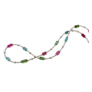 Silverhorn watermelon tourmaline necklace
