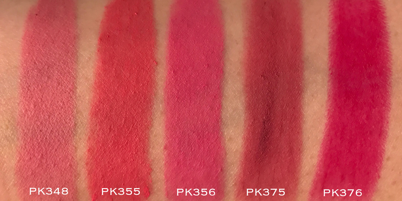 Shu Uemura Rouge Unlimited Supreme Matte - PK swatches