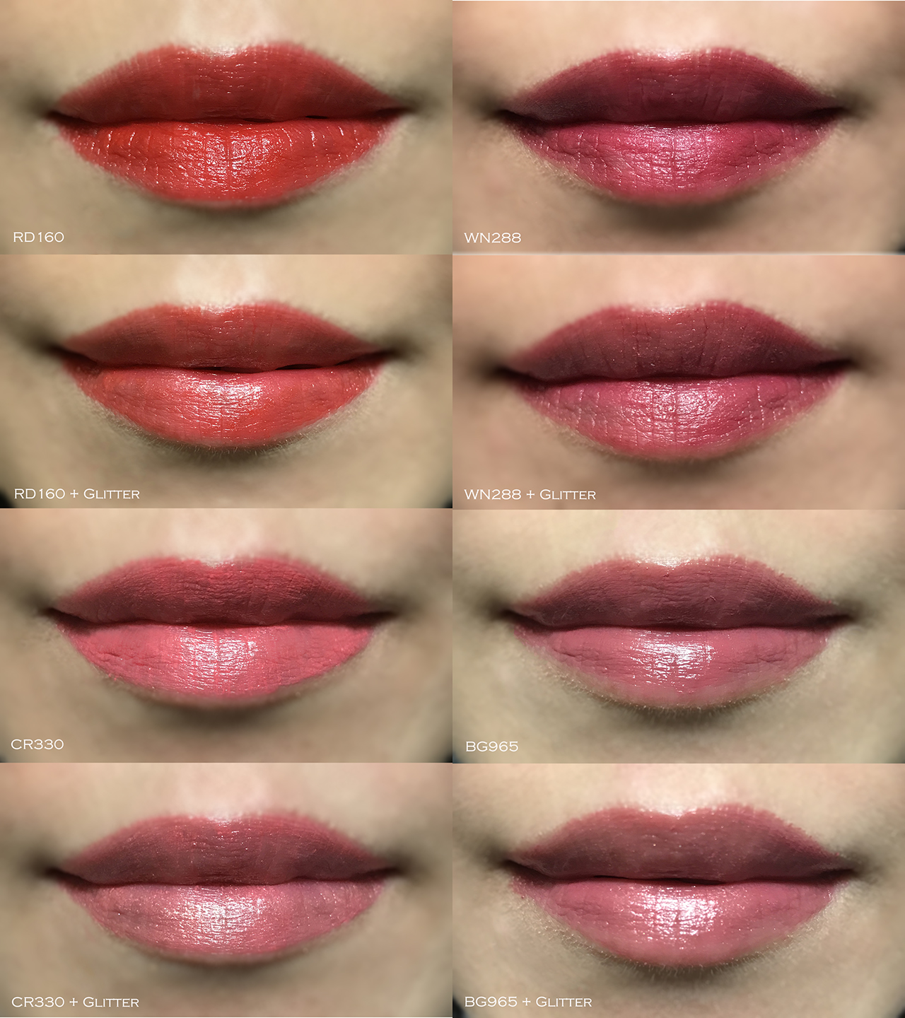 Shu Uemura Rouge Unlimited Central full lip swatches