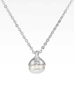 Whale Tail with Pearl Necklace