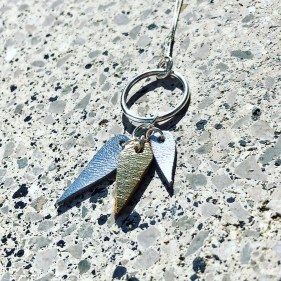 Leather teardrops necklace 01 pic 4