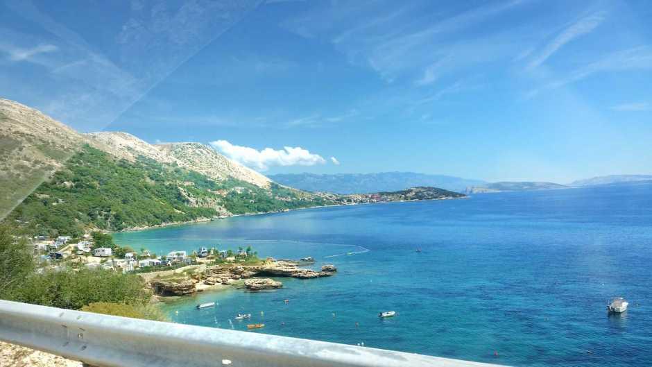 Chorwacja widok z drogi na morze