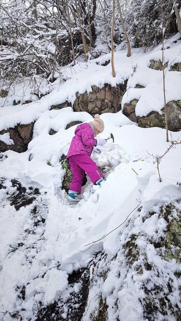 kamieniołom Lubiechowa zimą