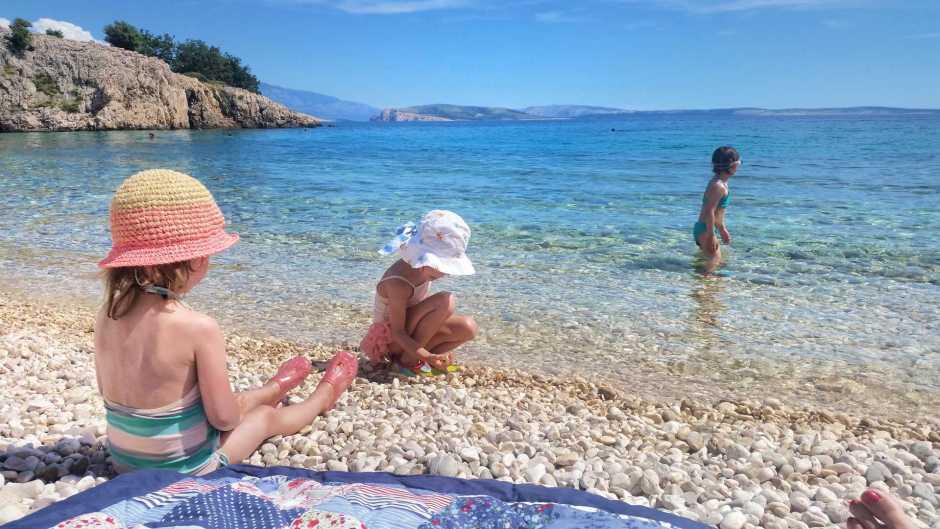 plaża na Krk