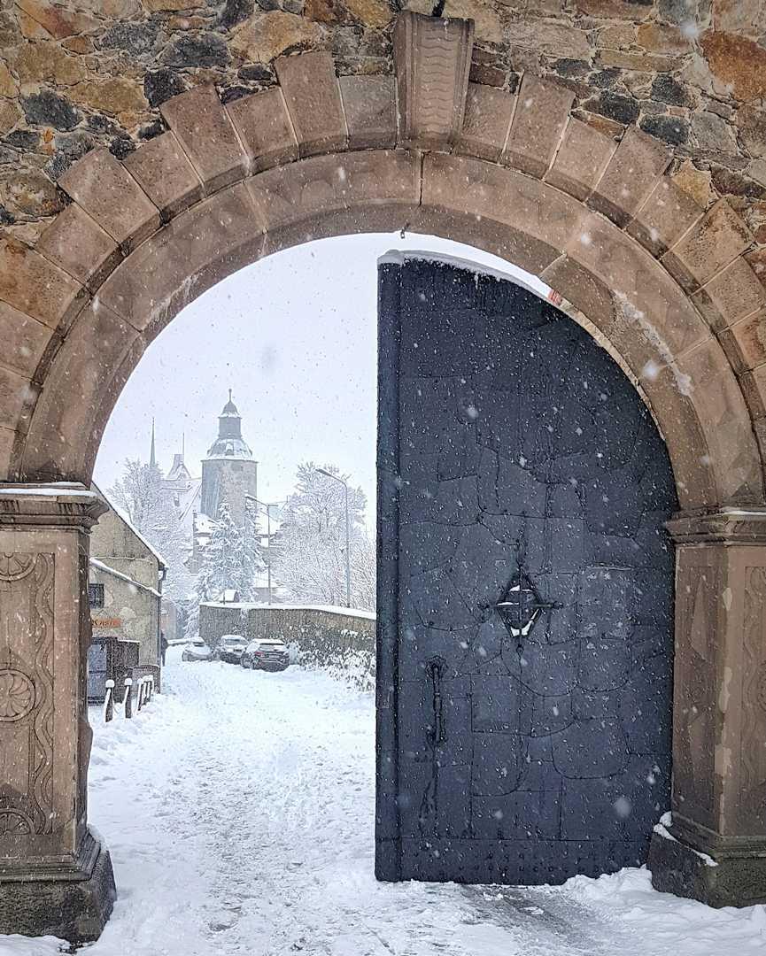 zamek Czocha zimą