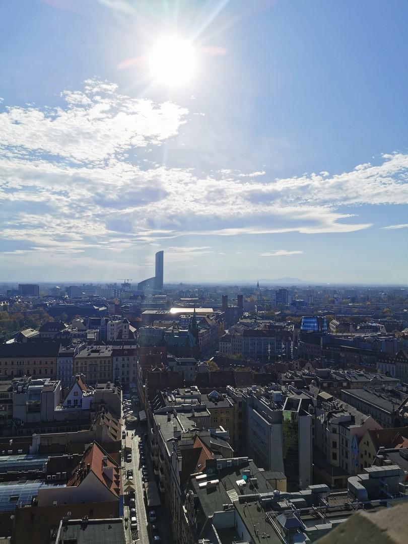 widok z wieży Kościoła Garnizonowego, Wrocław