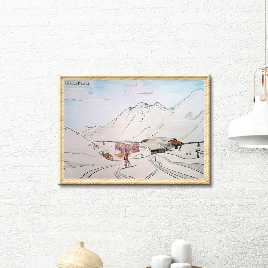 SilverMint blog kolorowanki zimowe Alpy
