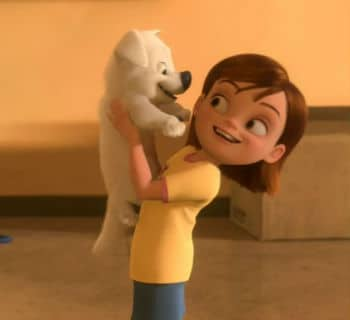 Penny and Bolt Meet; Bolt Photo: Disney