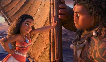 Moana and Maui Photo: Disney, IMDB Stills