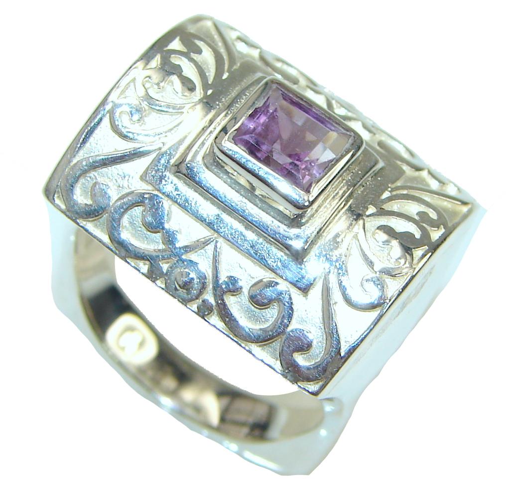 Maya Dreams Purple Amethyst Sterling Silver Ring S 9 12