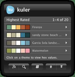 Kuler Desktop Widget