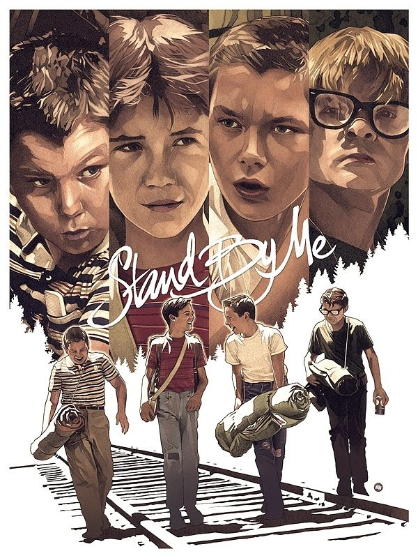 Stand By Me poster by illustrator Dani Blázquez